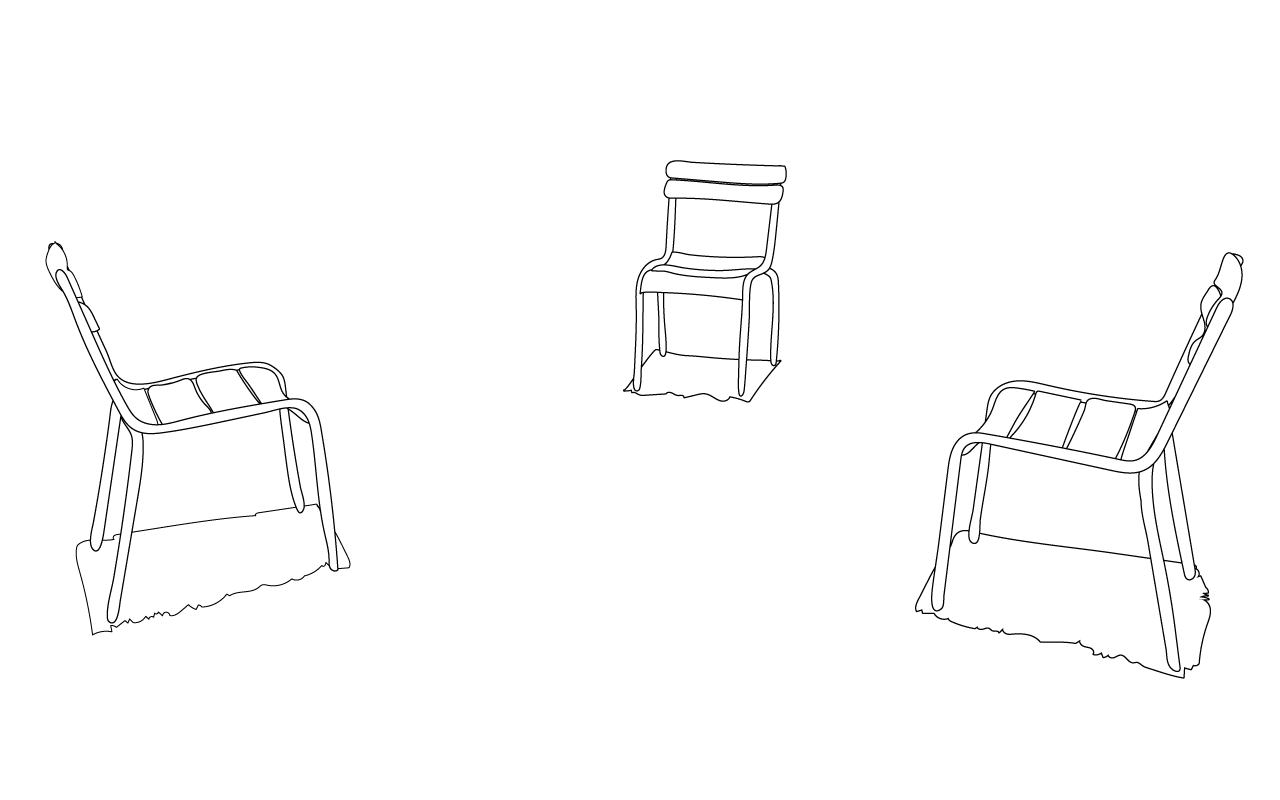 drie stoelen rozenoord